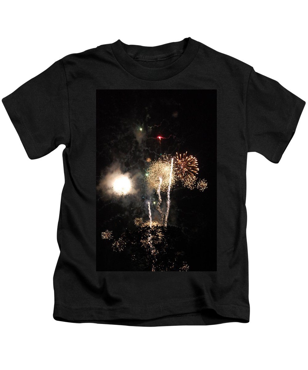 Firwworks Kids T-Shirt featuring the photograph Bombs1 by David Lane