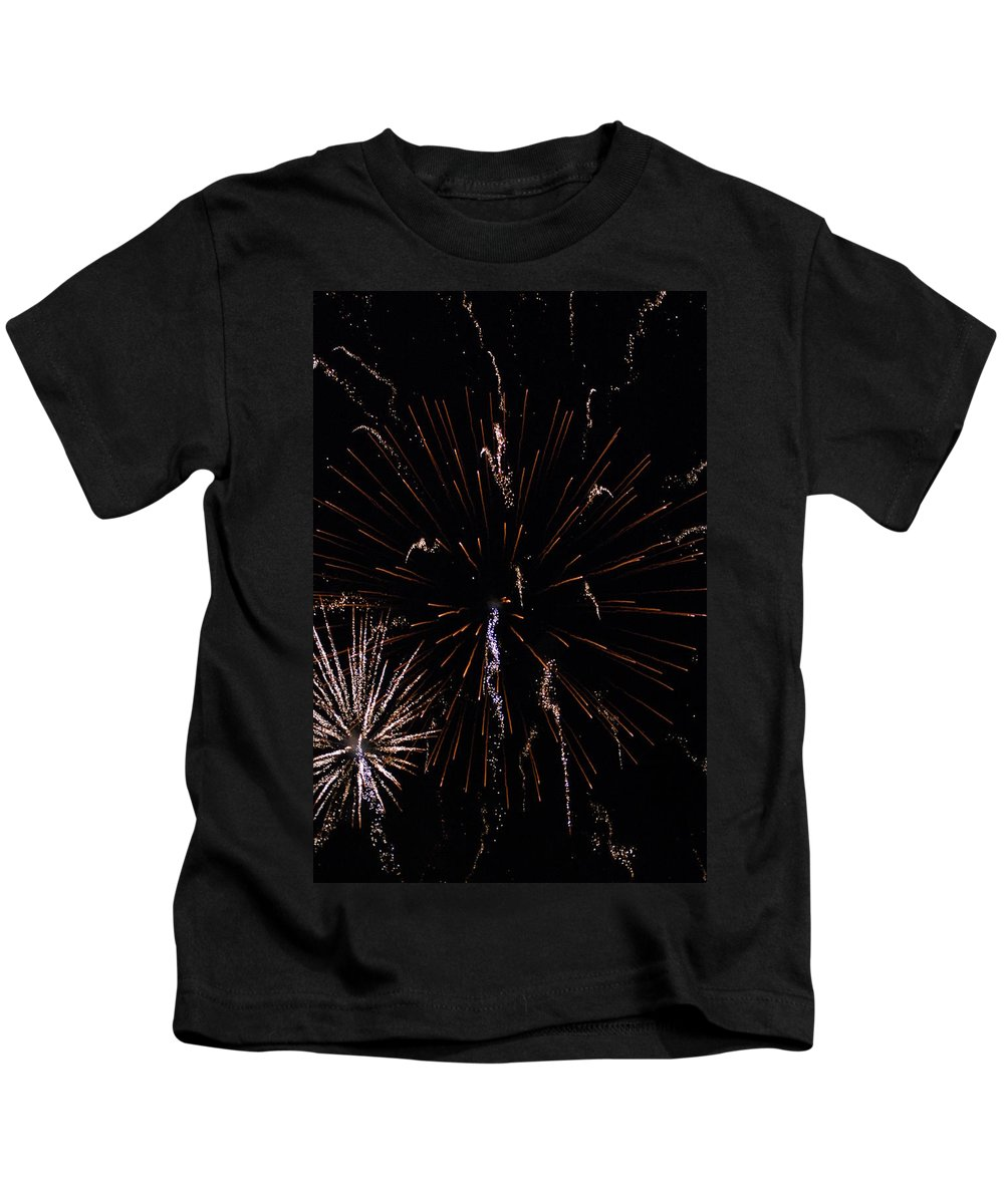 Firwworks Kids T-Shirt featuring the photograph Bombs2 by David Lane