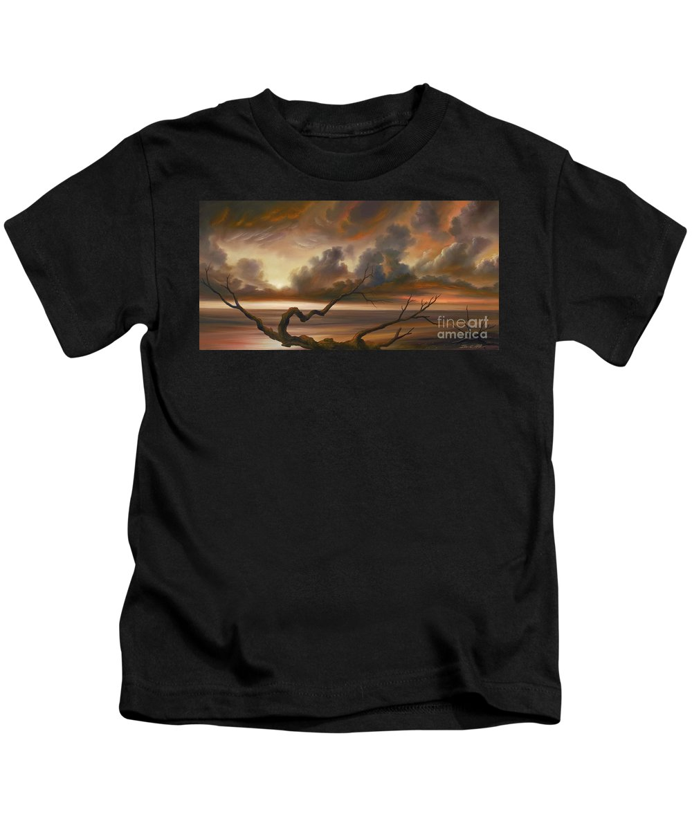 Ocean Kids T-Shirt featuring the painting Botany Bay by James Christopher Hill