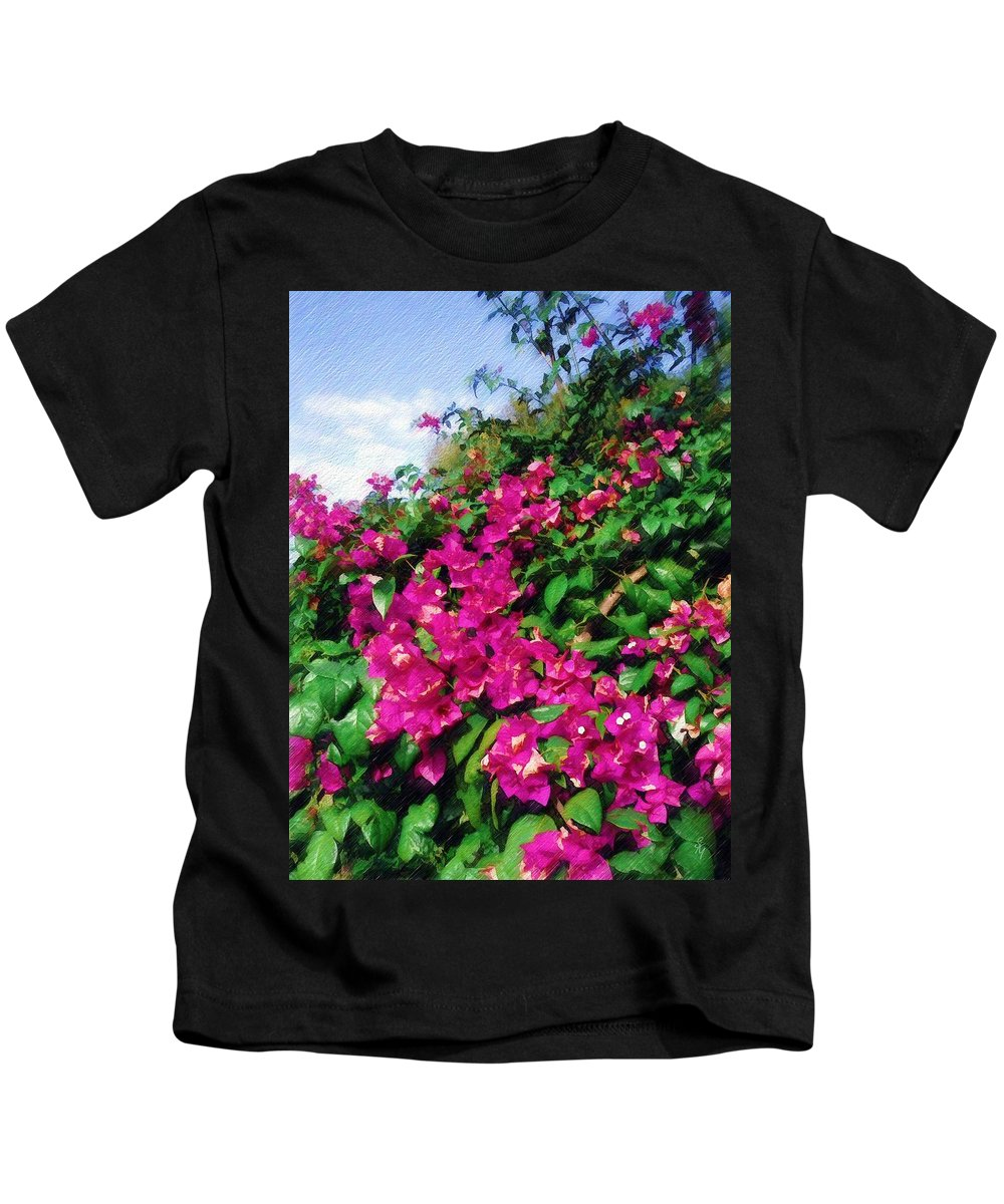 Bougainvillea Kids T-Shirt featuring the photograph Bougainvillea by Sandy MacGowan