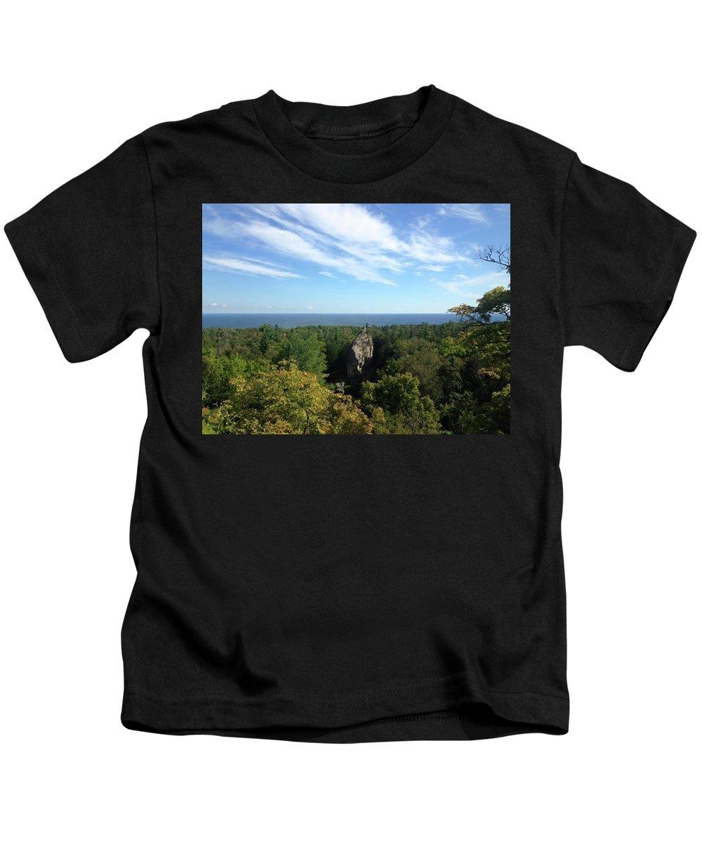 Sky Kids T-Shirt featuring the photograph Boulder by Amanda Camarata
