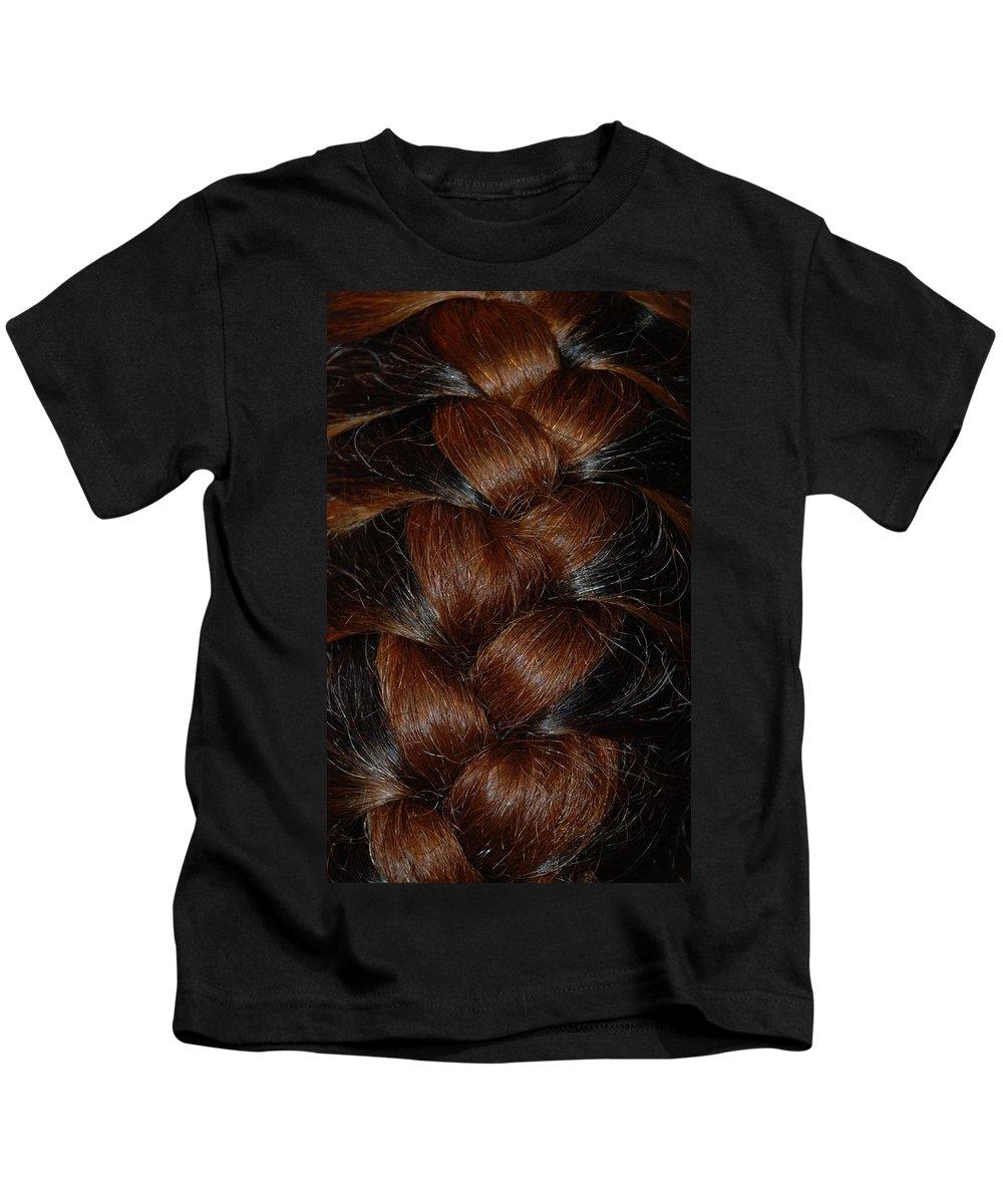 Hair Kids T-Shirt featuring the photograph Braids by Rob Hans
