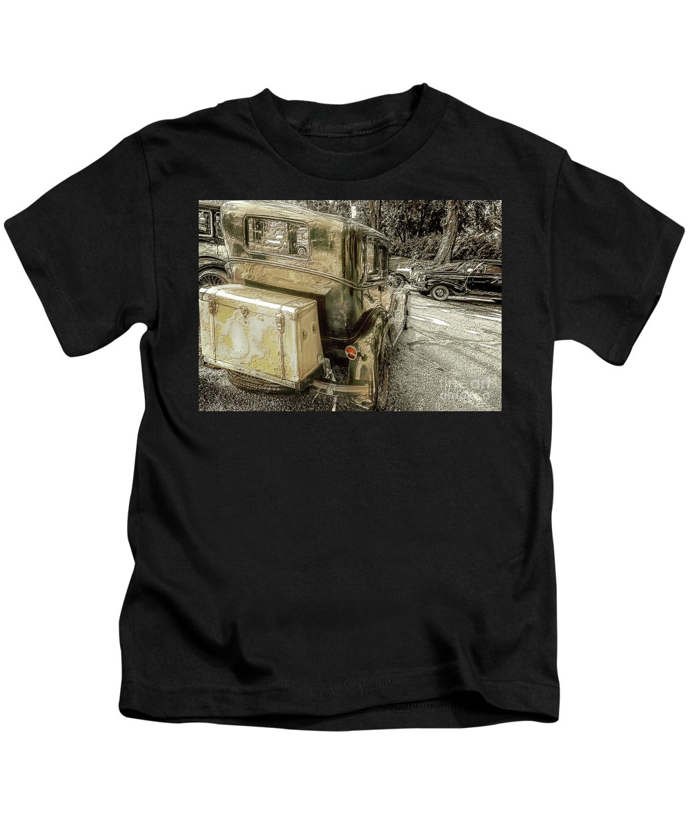 Cars Kids T-Shirt featuring the photograph Brake Time by John Anderson