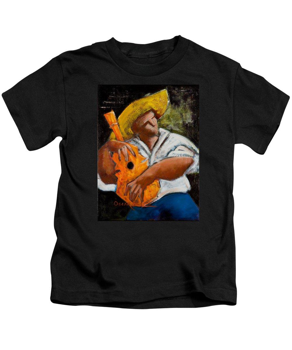Puerto Rico Kids T-Shirt featuring the painting Bravado Alla Prima by Oscar Ortiz