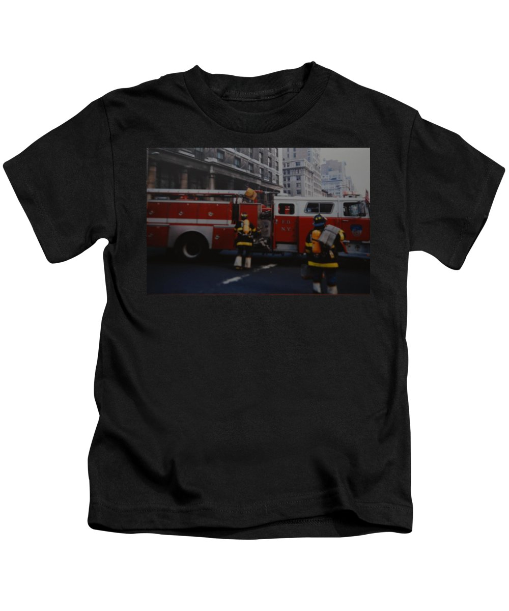 Fdny Kids T-Shirt featuring the photograph Bravest Of The Brave by Rob Hans