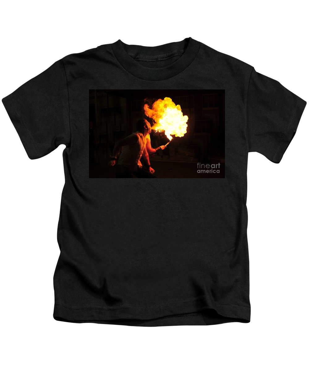 Fire Kids T-Shirt featuring the photograph Breath Of Fire by David Lee Thompson