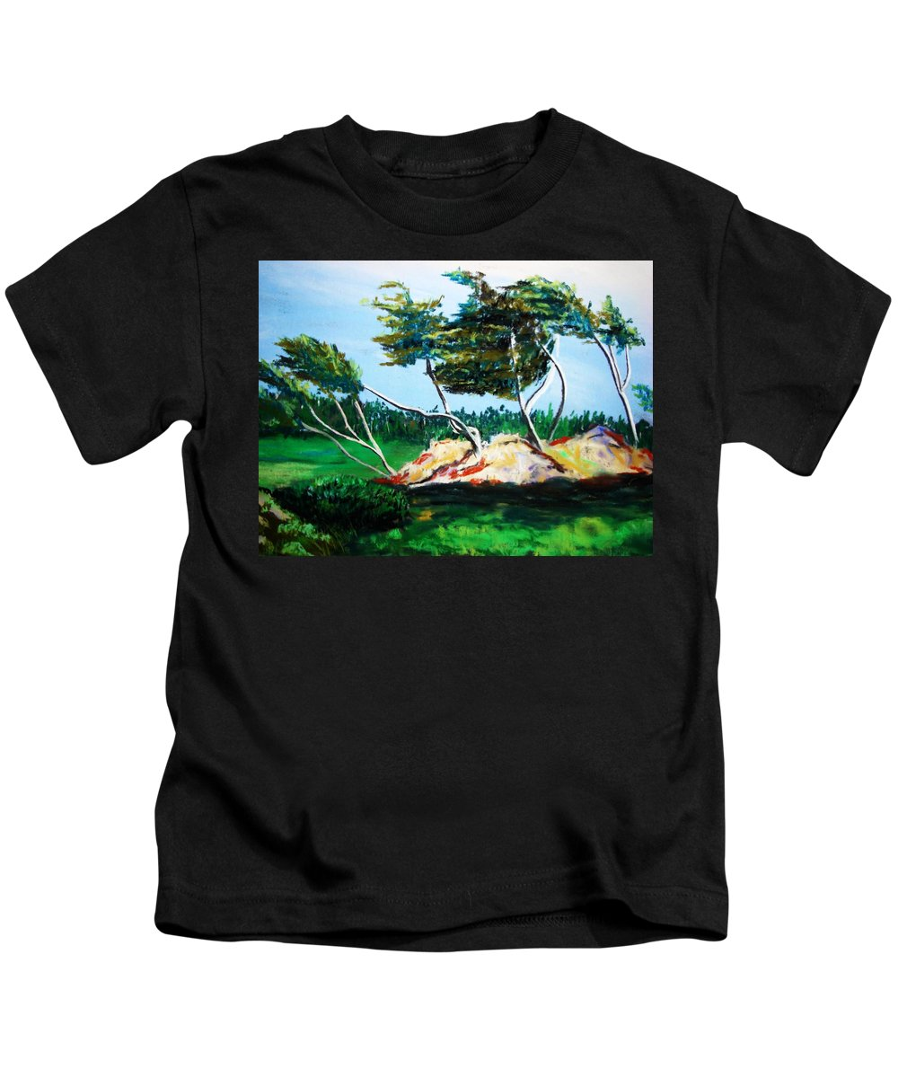 California Kids T-Shirt featuring the painting Breezy by Melinda Etzold