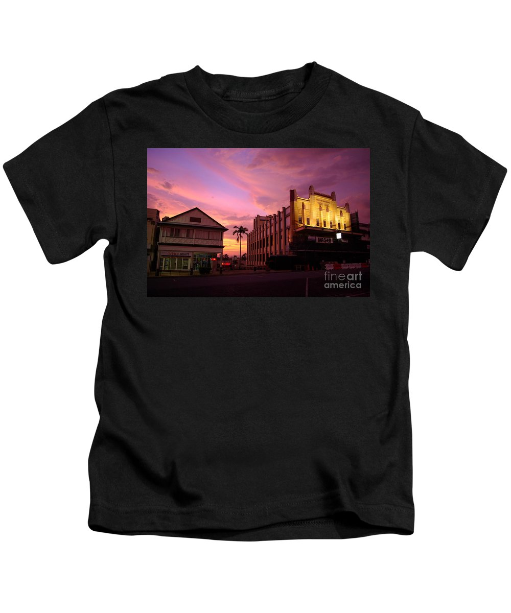 Evening Kids T-Shirt featuring the photograph Brewing Storm by Kerryn Madsen- Pietsch