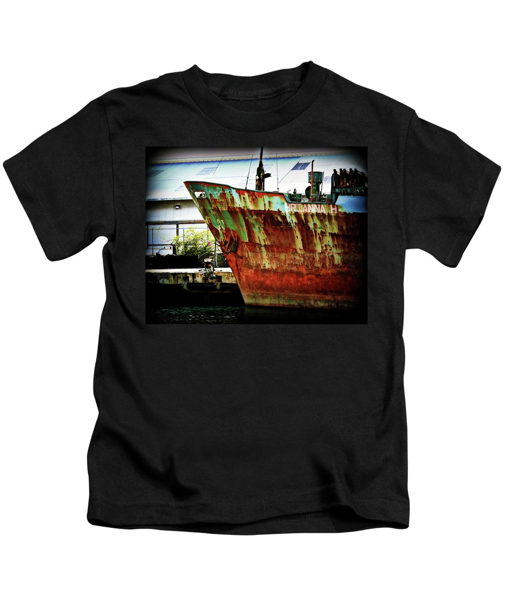 Boat Kids T-Shirt featuring the photograph Brianna H by Perry Webster