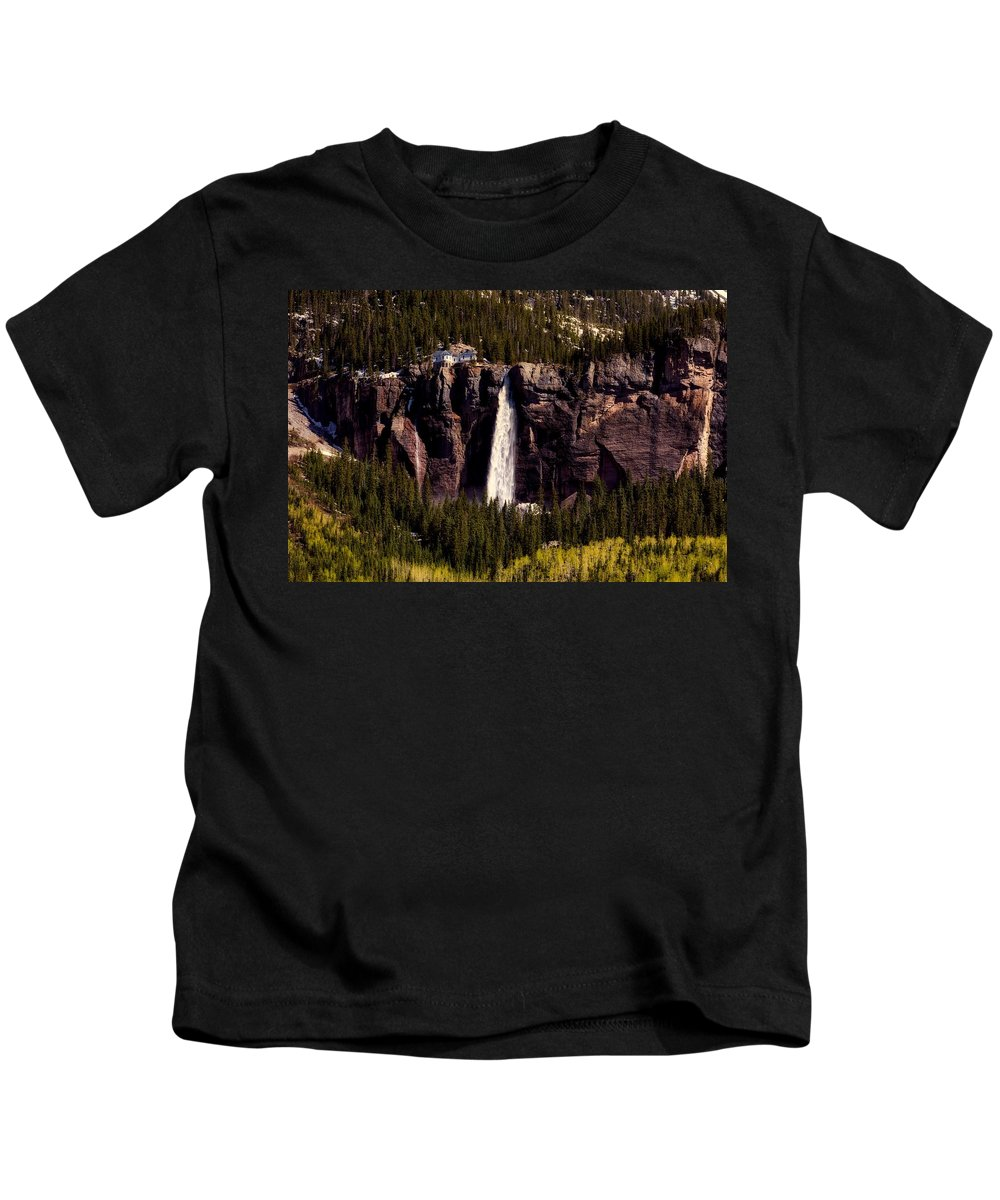 Overlook Kids T-Shirt featuring the photograph Bridal Veil Falls by L O C