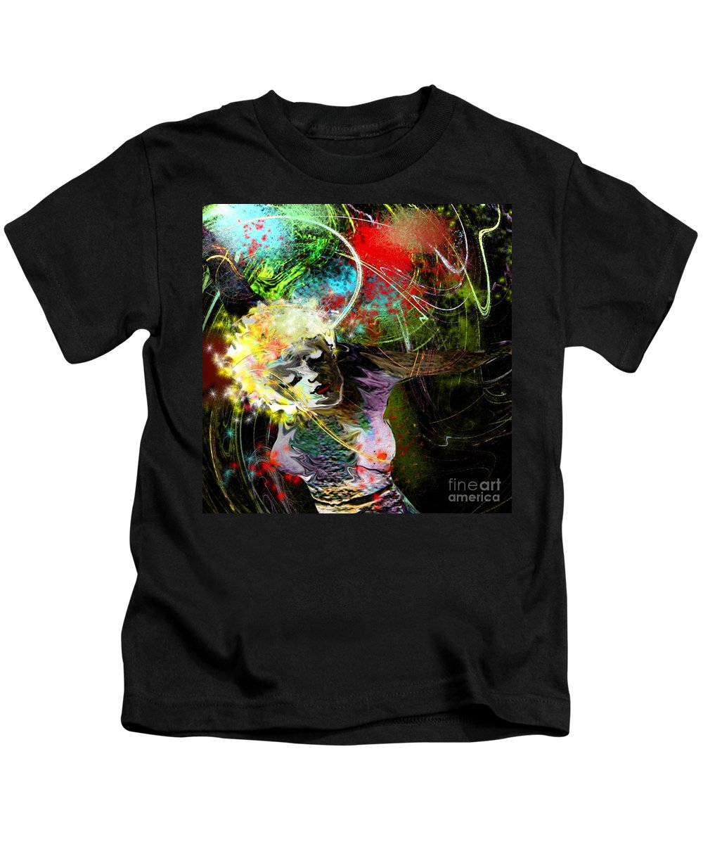 Fantasy Kids T-Shirt featuring the painting Bride Of Halos by Miki De Goodaboom