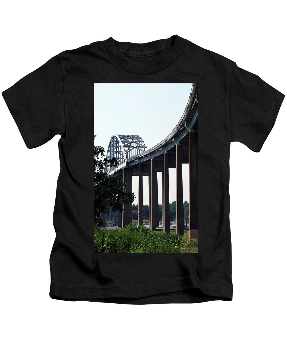 Bridge Kids T-Shirt featuring the photograph Bridge Over Delaware Chesapeake Canal by Skip Willits