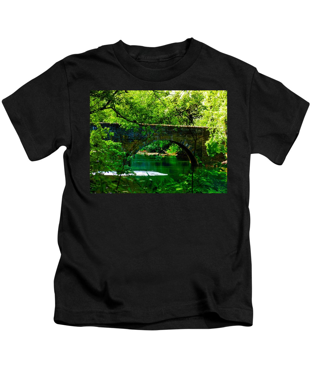 Philadelphia Kids T-Shirt featuring the photograph Bridge Over The Wissahickon by Bill Cannon
