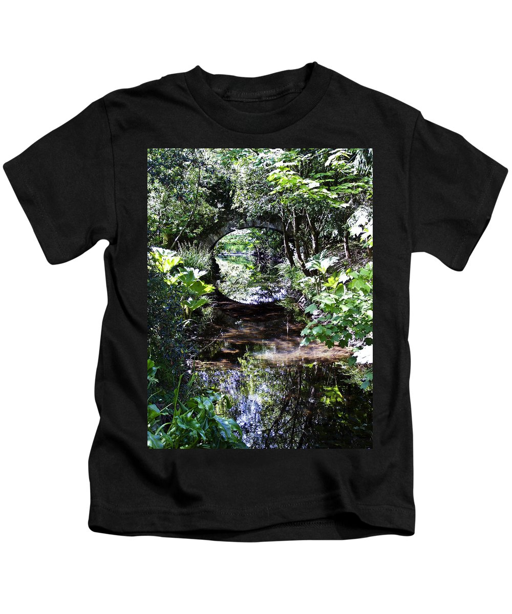 Irish Kids T-Shirt featuring the photograph Bridge Reflection At Blarney Caste Ireland by Teresa Mucha