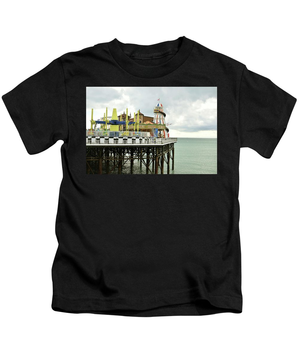 Brighton Kids T-Shirt featuring the photograph Brighton Pier by Alicia Fdez