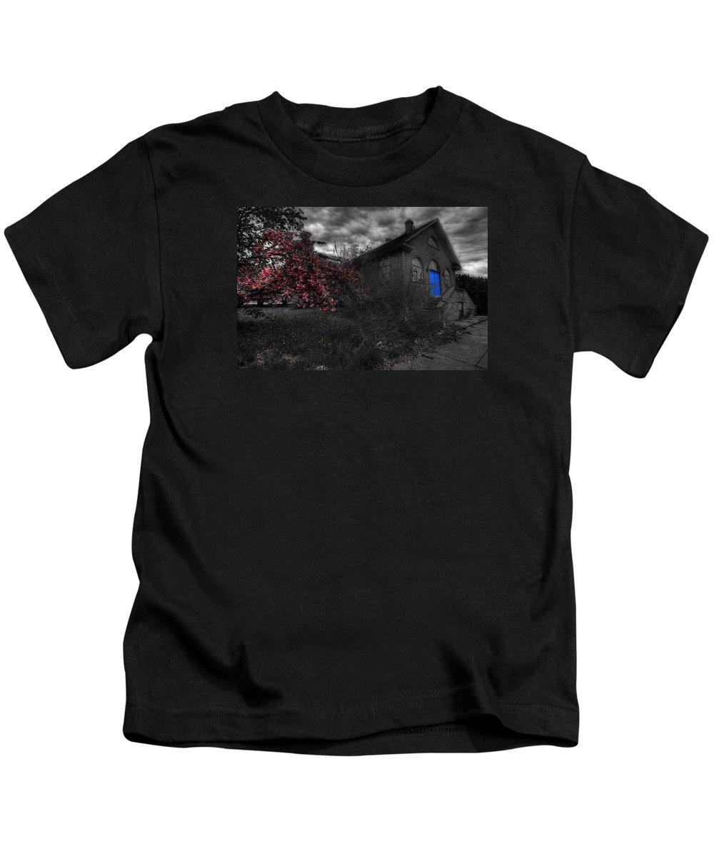 Church Kids T-Shirt featuring the photograph Broken Faith by Shelley Neff