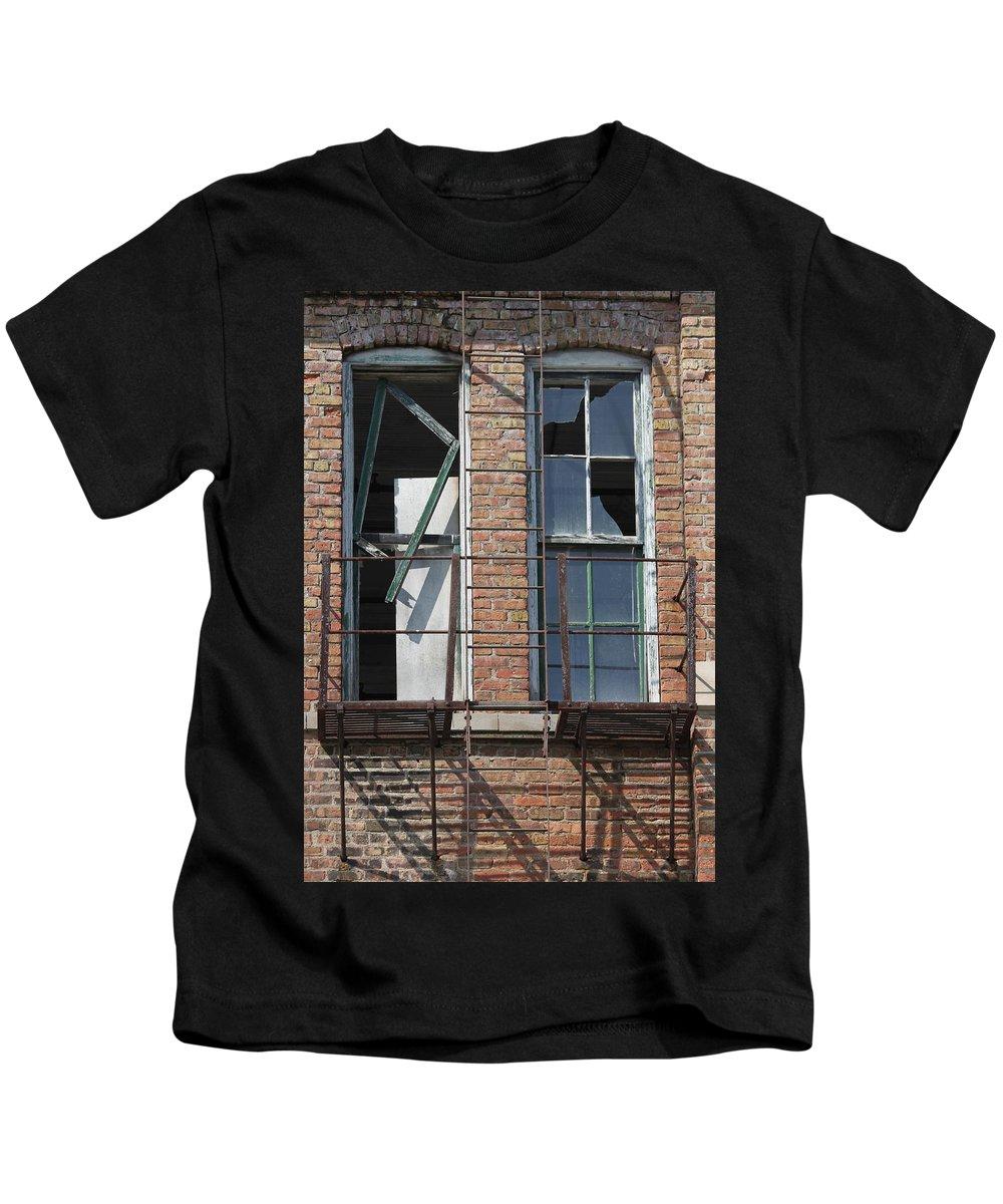 Window Kids T-Shirt featuring the photograph Broken by Lauri Novak