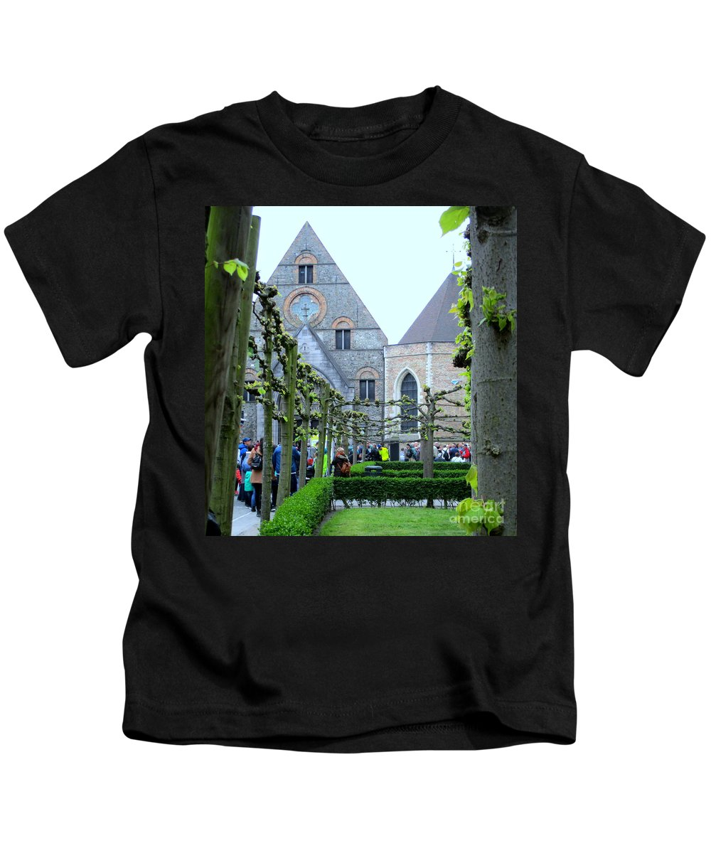Bruges Kids T-Shirt featuring the photograph Bruges 8 by Randall Weidner