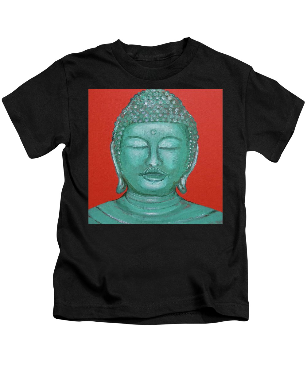 Buddah Kids T-Shirt featuring the painting Buddah I by Sue Wright