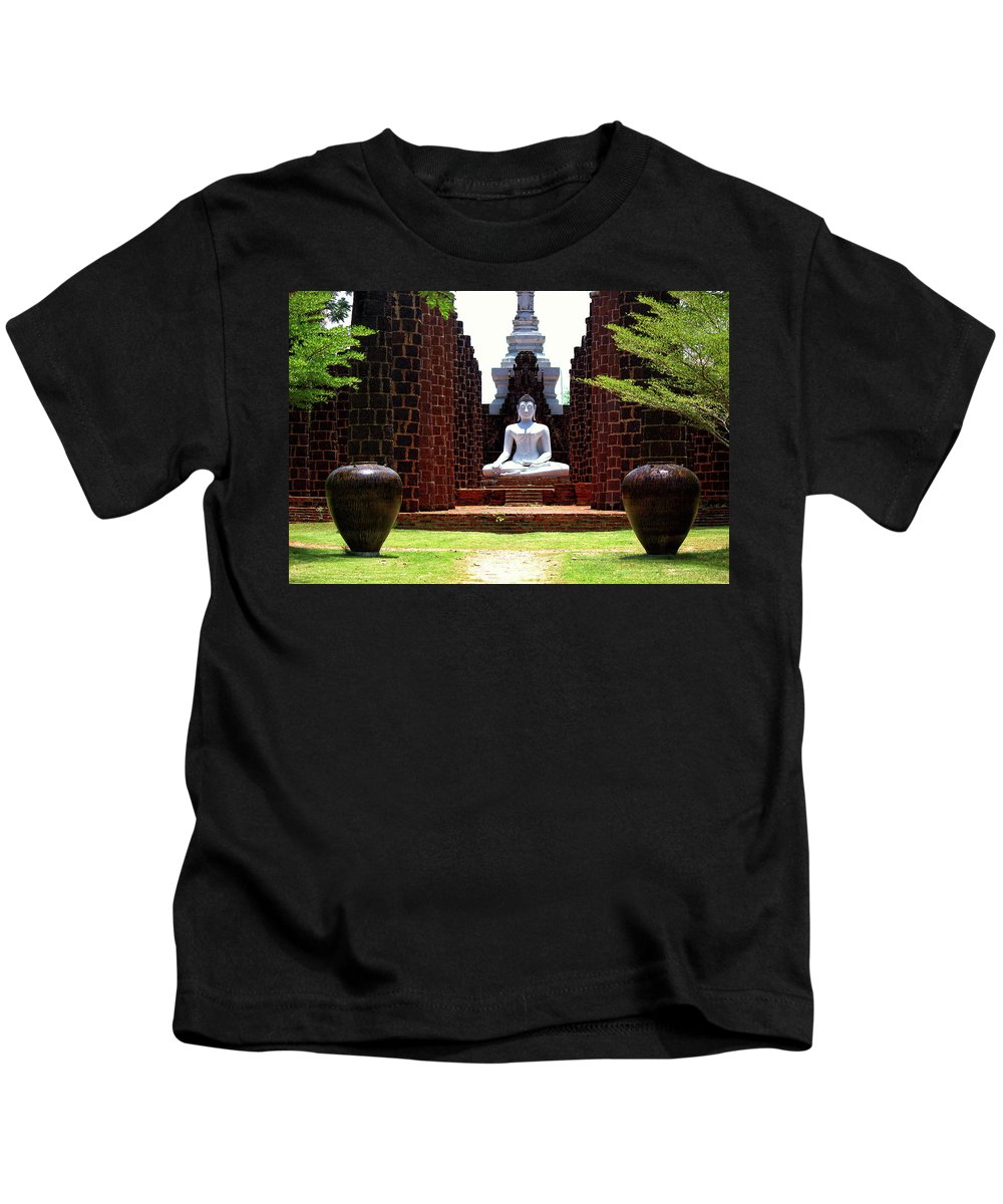 Buddha Kids T-Shirt featuring the photograph Buddha Samadhi by Budi Nur Mukmin