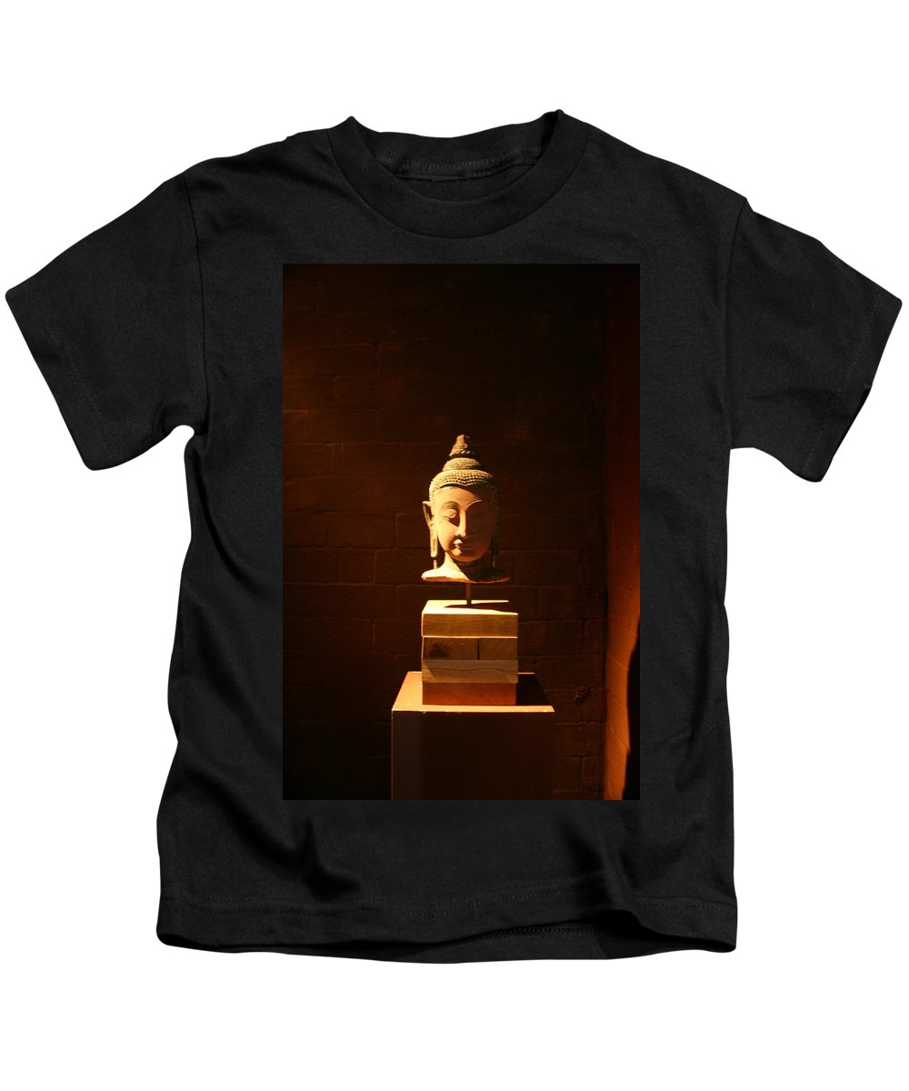 Buddhism Kids T-Shirt featuring the photograph Buddhism In Belgium by Minaz Jantz