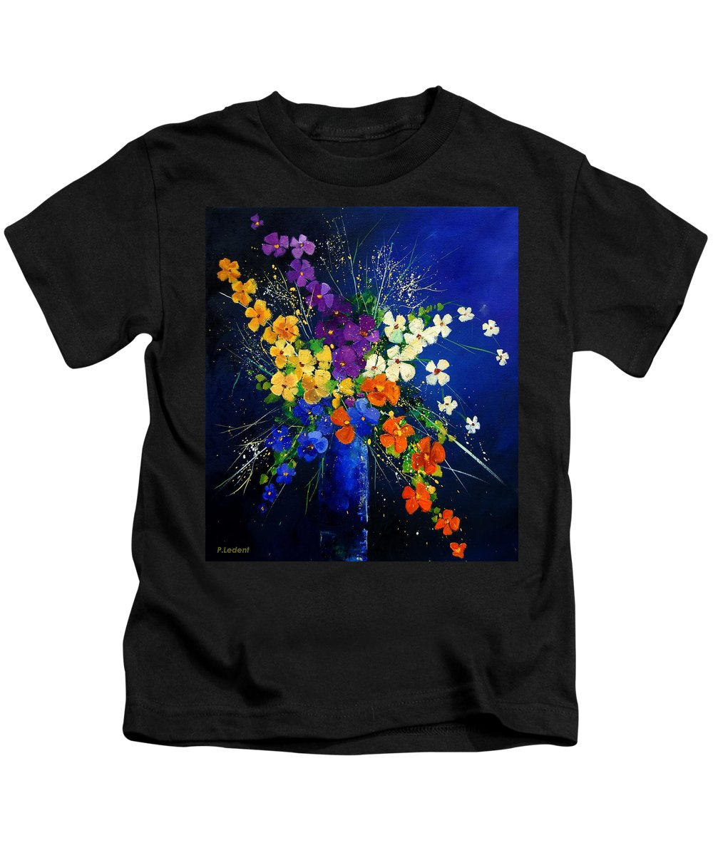 Poppies Kids T-Shirt featuring the print Bunch 0408 by Pol Ledent