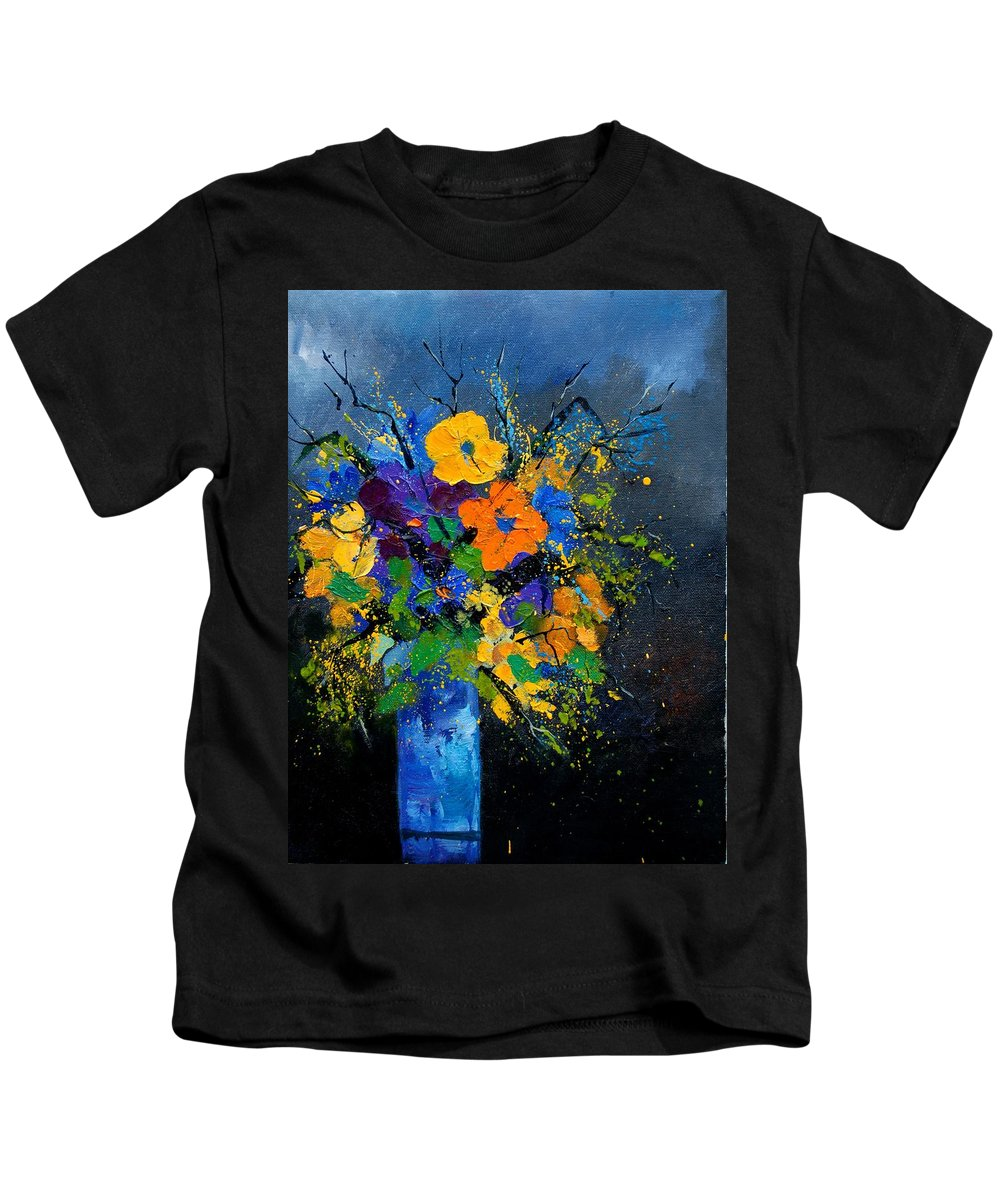 Poppies Kids T-Shirt featuring the painting Bunch 1007 by Pol Ledent