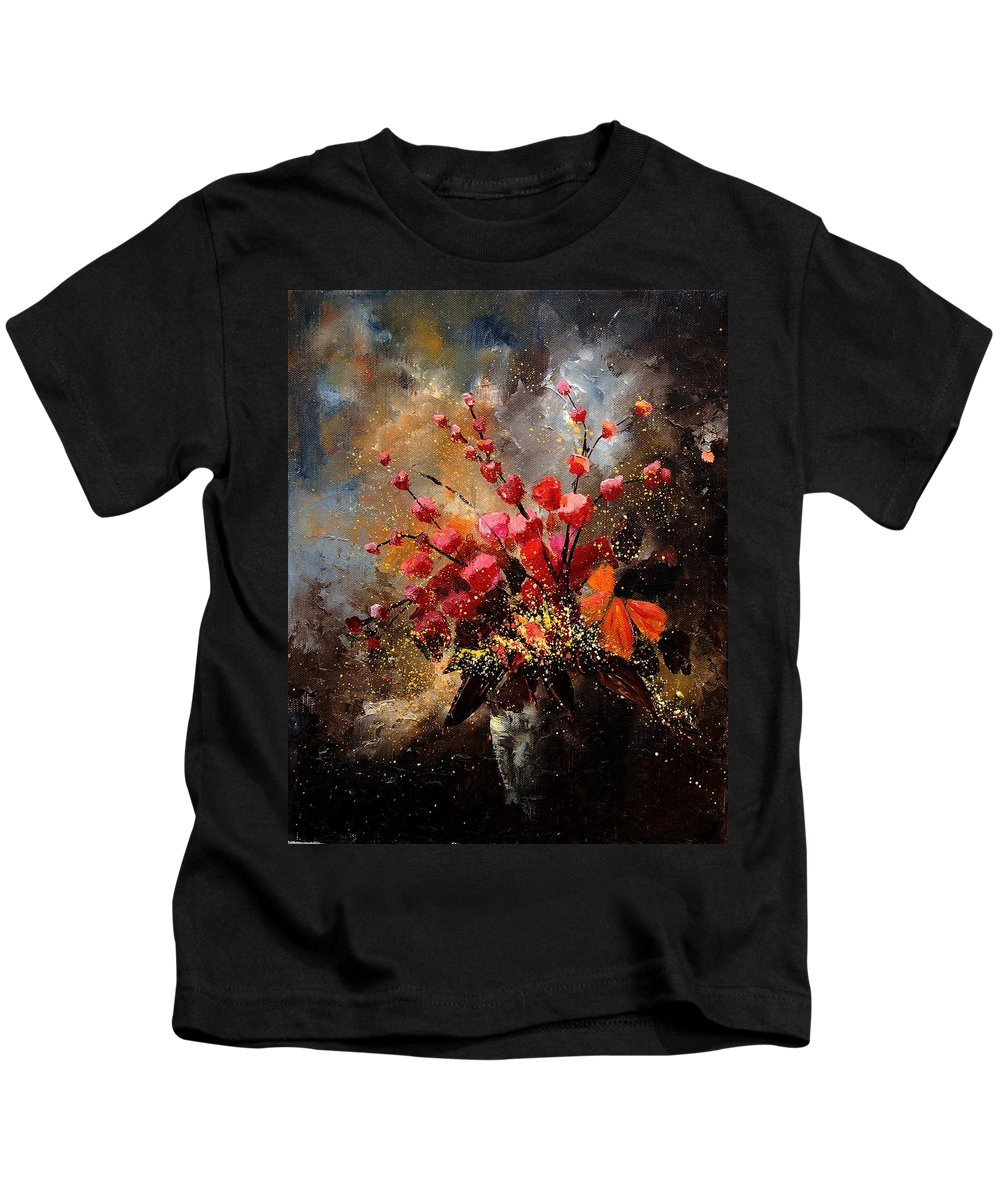 Poppies Kids T-Shirt featuring the painting Bunch 1207 by Pol Ledent