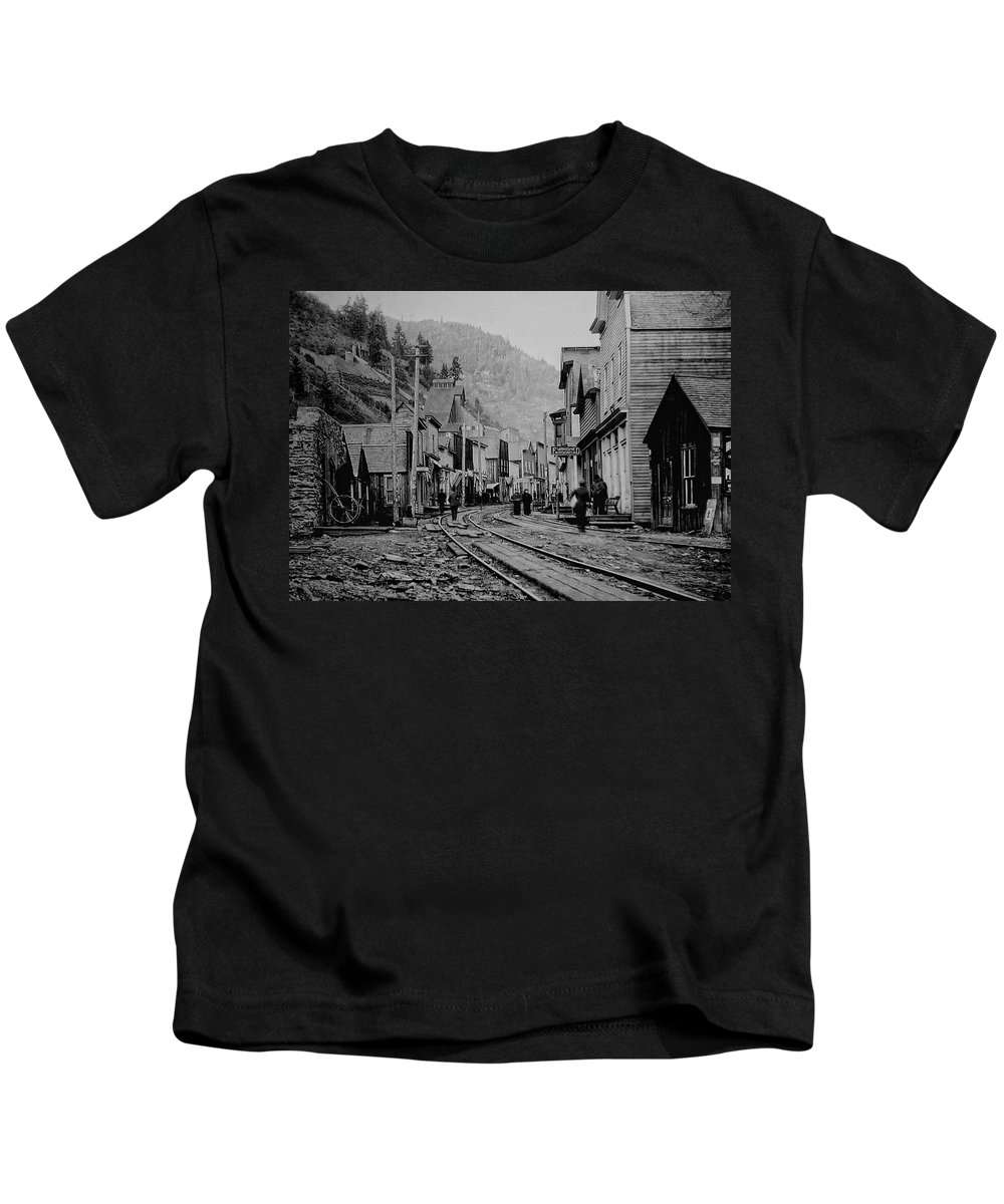 ghost Town Kids T-Shirt featuring the photograph Burke Idaho Ghost Town In Its Prime by Daniel Hagerman