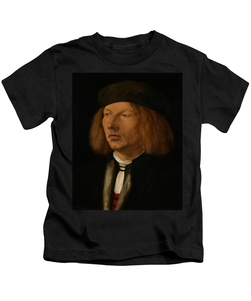 Albrecht Durer Kids T-Shirt featuring the painting Burkhard Of Speyer by Albrecht Durer