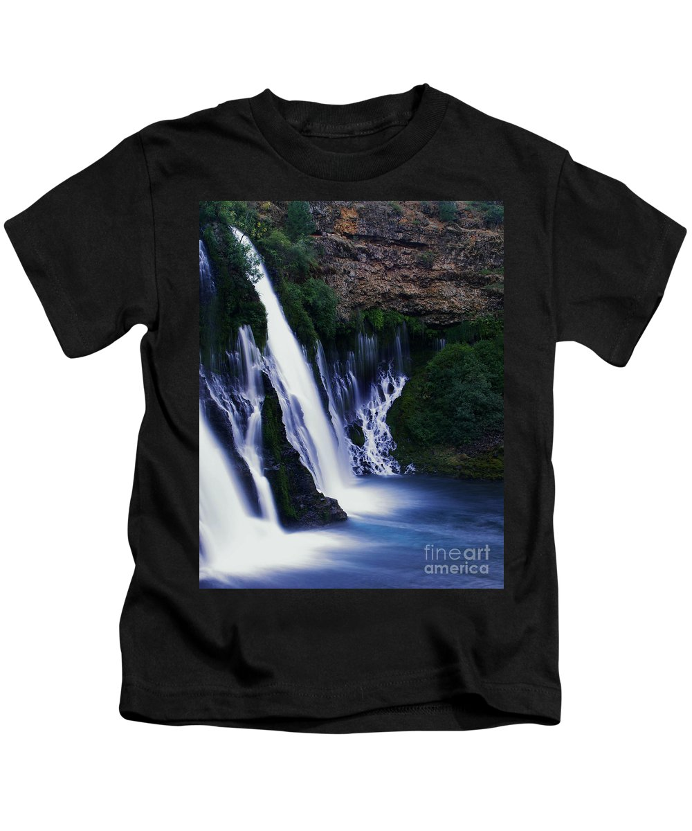 River Kids T-Shirt featuring the photograph Burney Blues by Peter Piatt