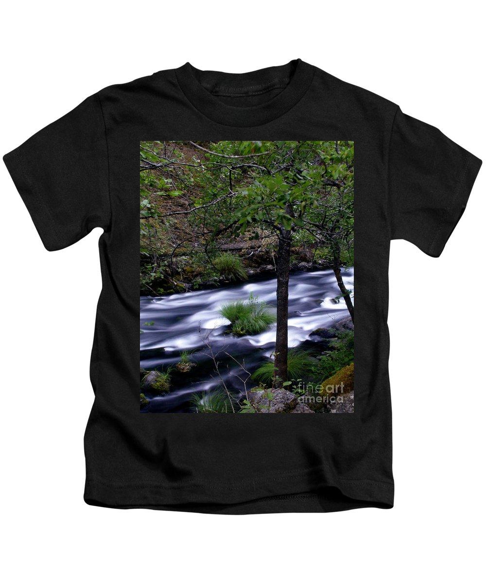 River Kids T-Shirt featuring the photograph Burney Creek by Peter Piatt