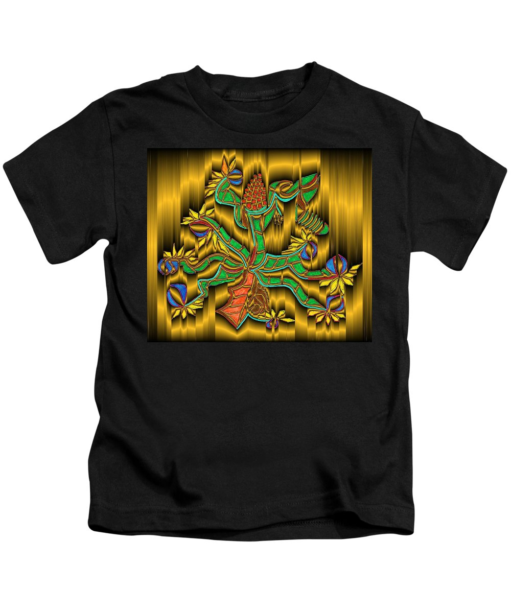 Digital Kids T-Shirt featuring the digital art Burning Bush by Mark Sellers