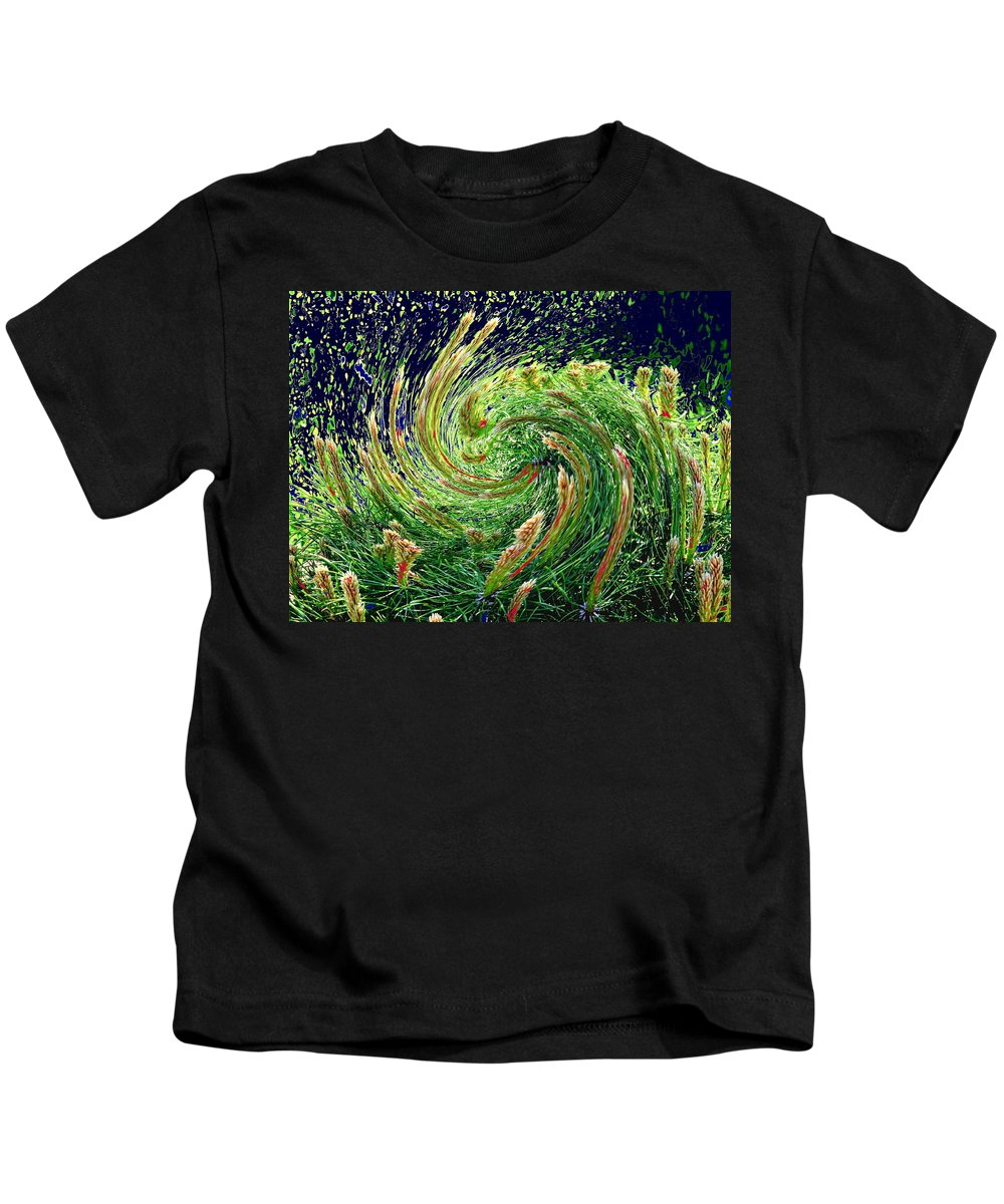 Pine Kids T-Shirt featuring the photograph Bush In Transition by Ian MacDonald