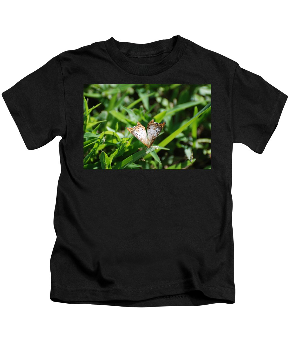 Butterfly Kids T-Shirt featuring the photograph Butter Fly by Rob Hans