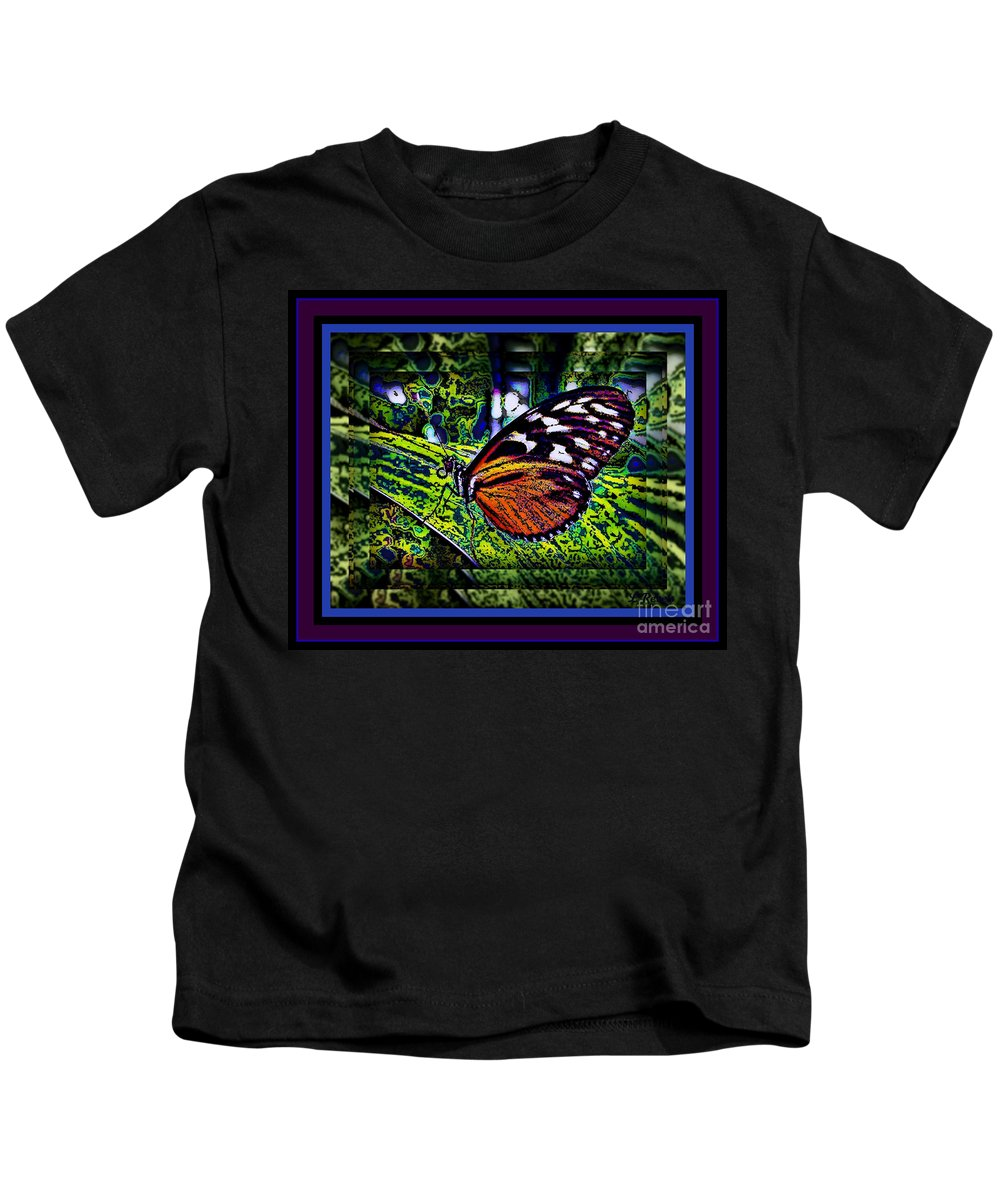 Butterfly Kids T-Shirt featuring the photograph Butterfly Dreams by Leslie Revels