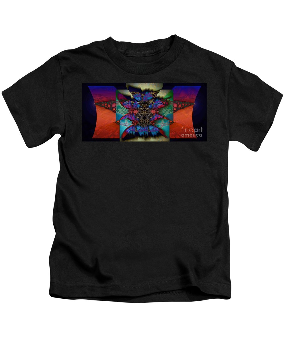 Butterfly Effect Kids T-Shirt featuring the digital art Butterfly Effect 2 by Elizabeth McTaggart