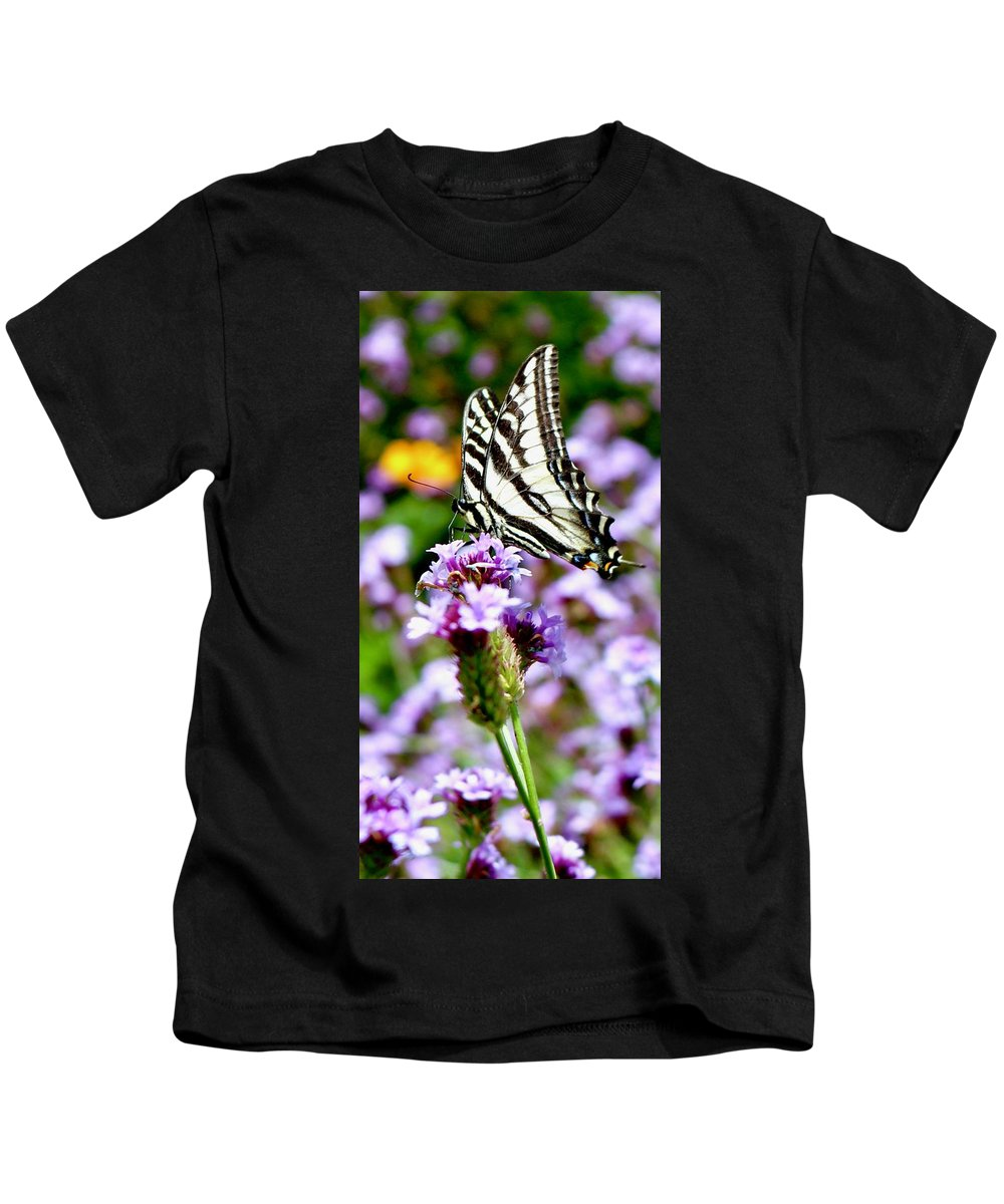 Flowers Kids T-Shirt featuring the photograph Butterfly by Erin Finnegan