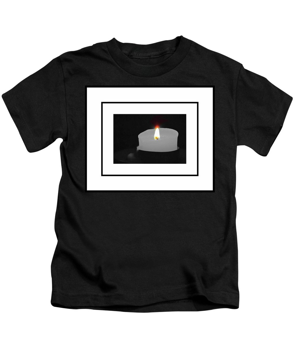 Candle Kids T-Shirt featuring the photograph By Candlelight by Patricia Black