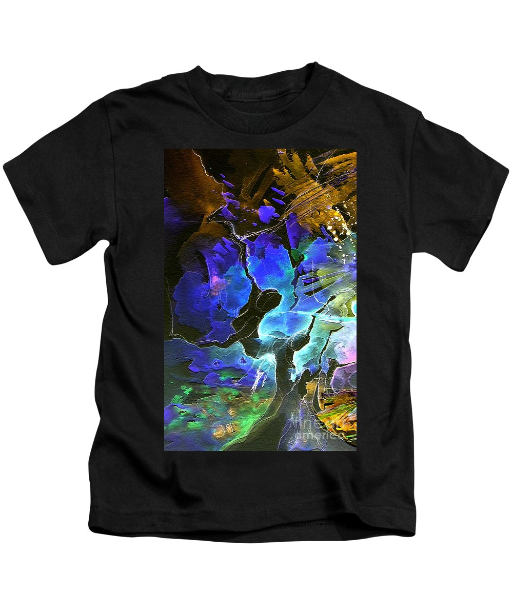 Miki Kids T-Shirt featuring the painting Bye by Miki De Goodaboom