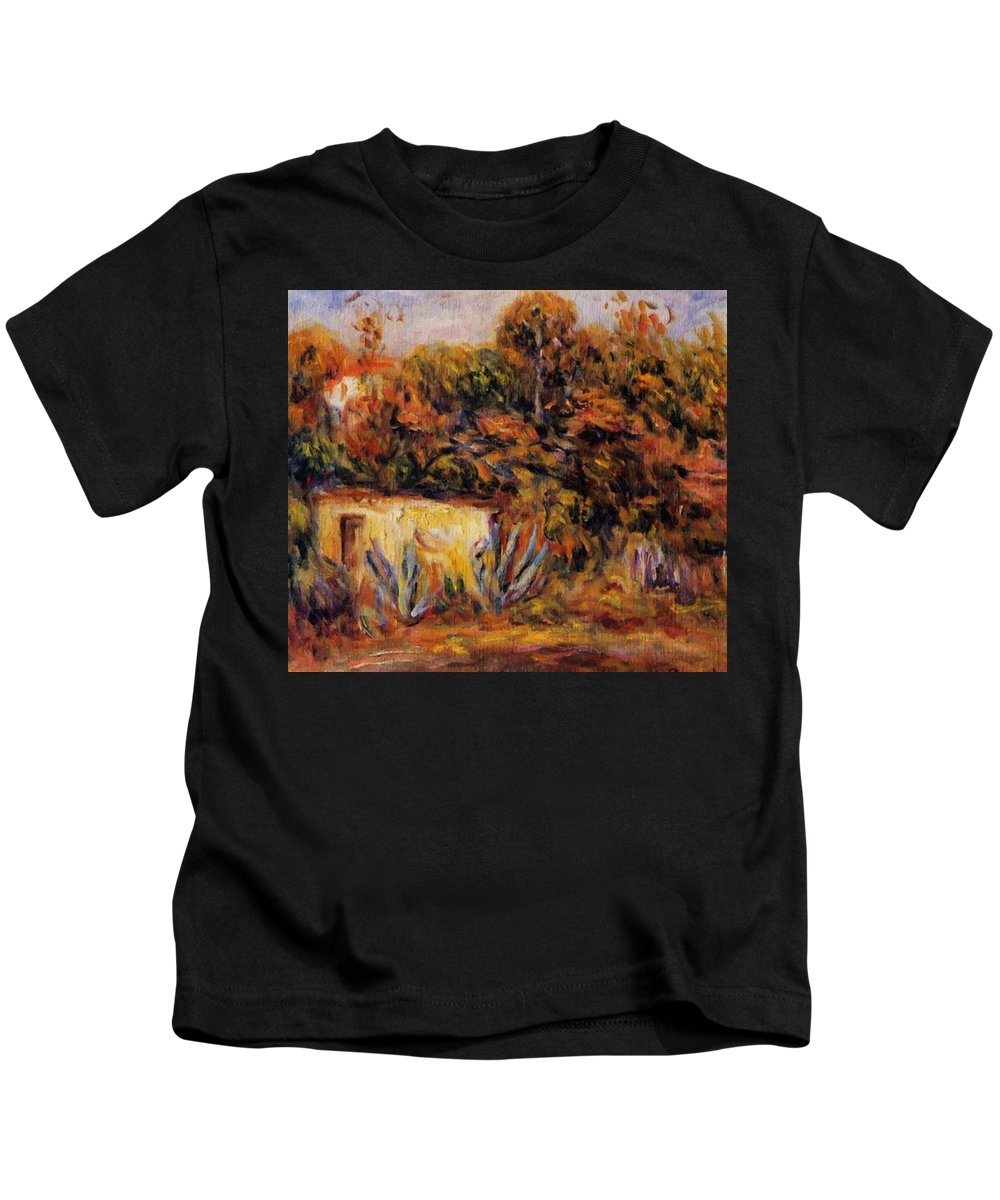 Cabin Kids T-Shirt featuring the painting Cabin With Aloe Plants by Renoir PierreAuguste