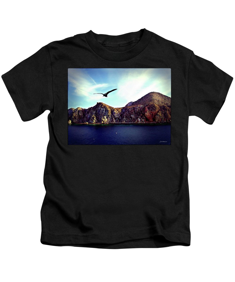 Baha Kids T-Shirt featuring the photograph Cabo And The Cliffs by Joan Minchak
