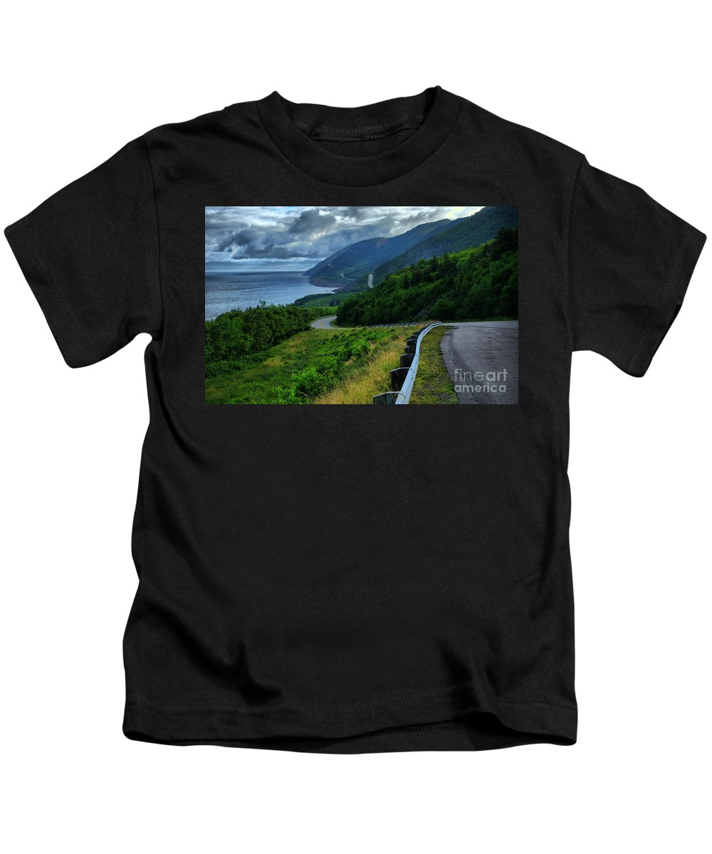 Nova Scotia Kids T-Shirt featuring the photograph Cabot Trail by Joe Ng