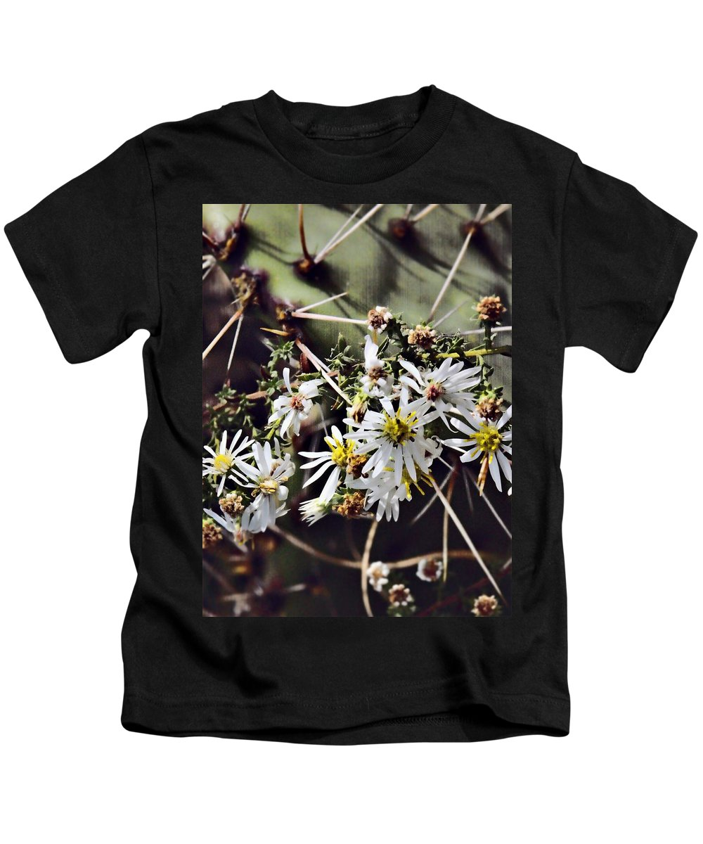 Cactus Kids T-Shirt featuring the photograph Cactus Flowers by Scott Wyatt