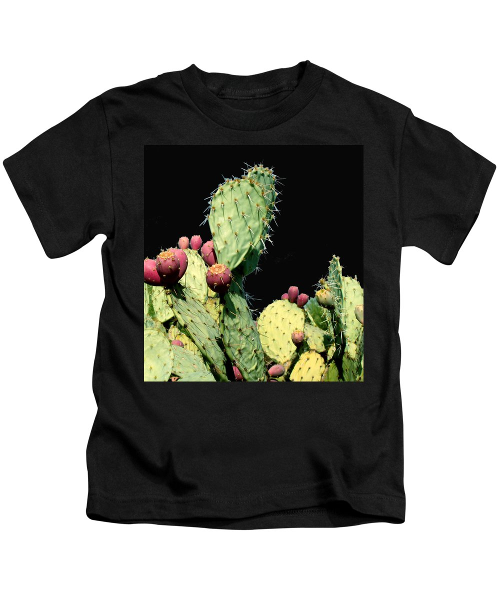 Cactus Kids T-Shirt featuring the photograph Cactus Two by Wayne Potrafka