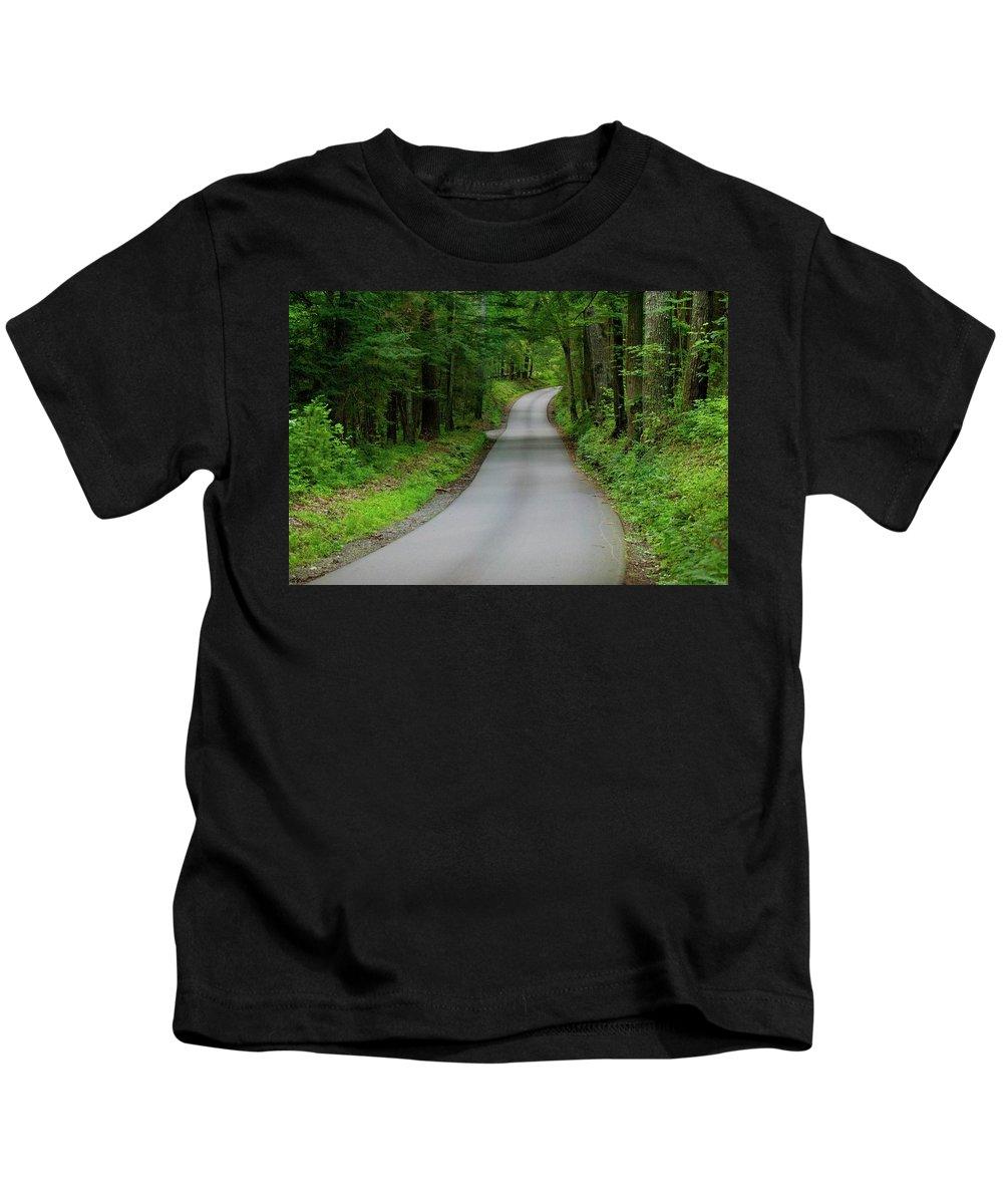 Cades Cove Print Kids T-Shirt featuring the photograph Cades Cove by Deborah M Rinaldi