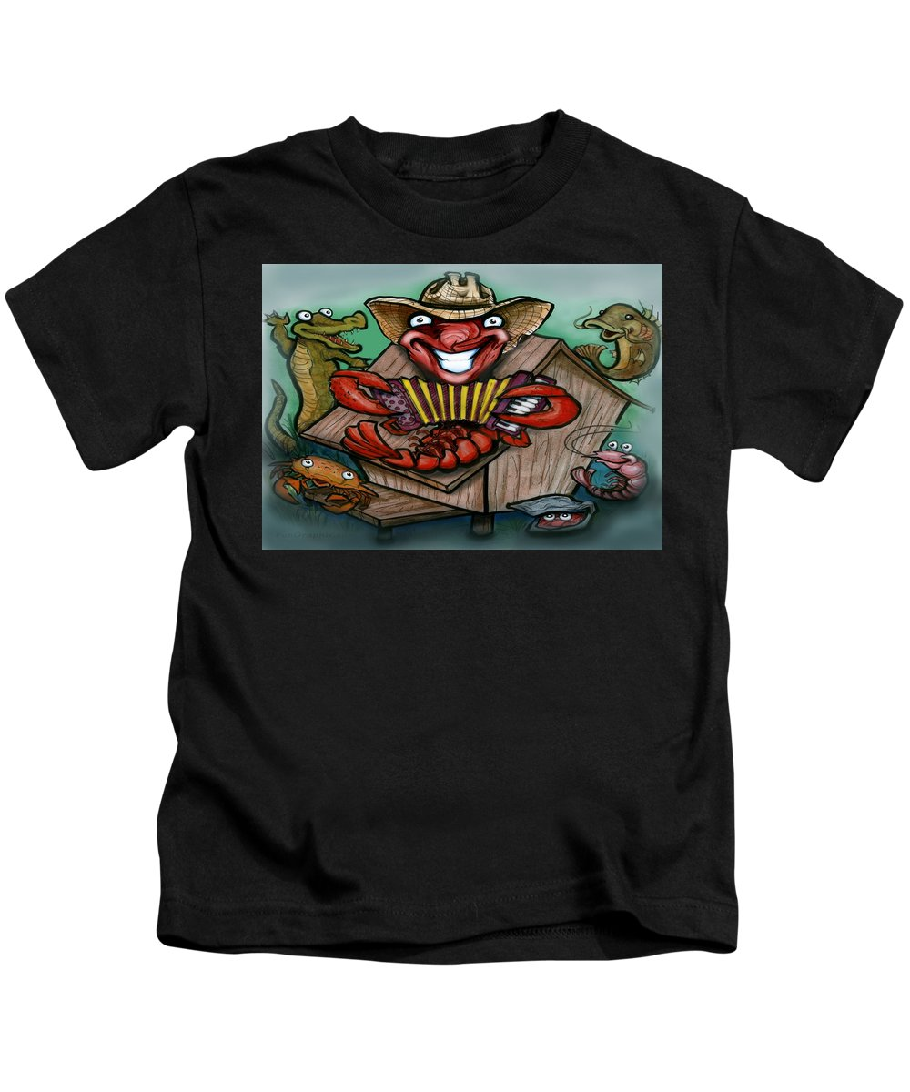 Cajun Kids T-Shirt featuring the greeting card Cajun Critters by Kevin Middleton