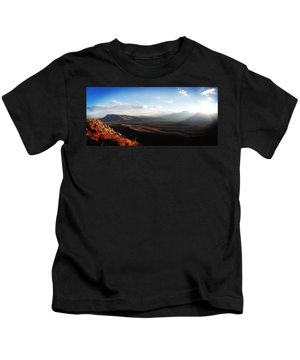 Landscape Kids T-Shirt featuring the photograph Calico Tanks by Brian Glennon