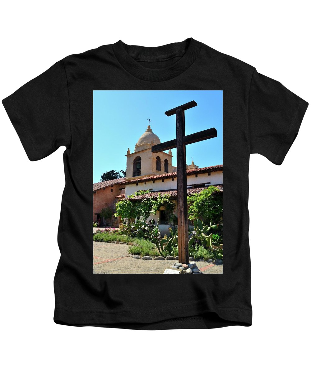 Spanish Mission Kids T-Shirt featuring the photograph California Spanish Mission by Michael Wirmel