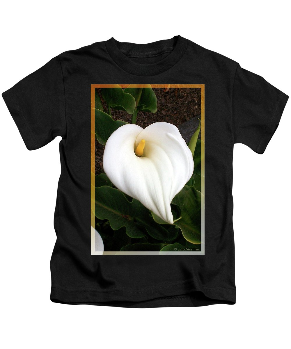 Lily Kids T-Shirt featuring the photograph Calla Lily by Carol Sturman